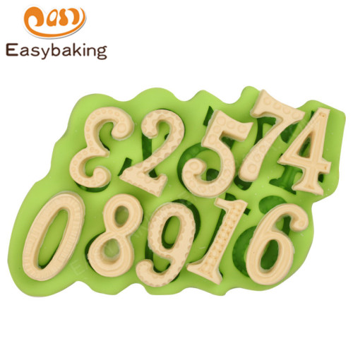 Number  BakeWare Fondant Mold 3d Silicone Mould