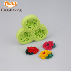 Food grade Flower shape silicone wedding and anniversary cake decorating mold fondant mould