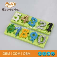 3D Number 0-9 Lollipop Silicone Fondant Cake Decorating Chocolate Molds