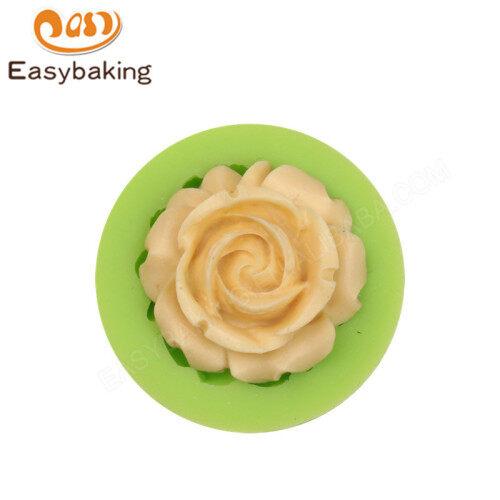 Rose flower shape silicone fondant mold