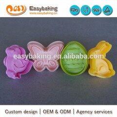 Food Grade Butterfly Easter Egg Hare Duck 4 pcs Fondant Cutter Set
