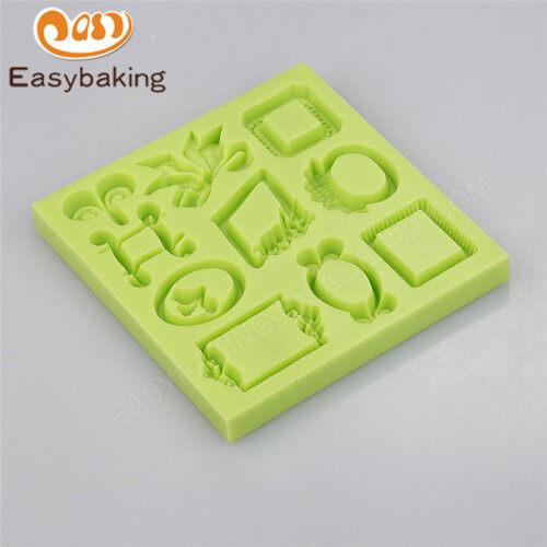 European frame multi-shaped silicone cake / cake decoration mold