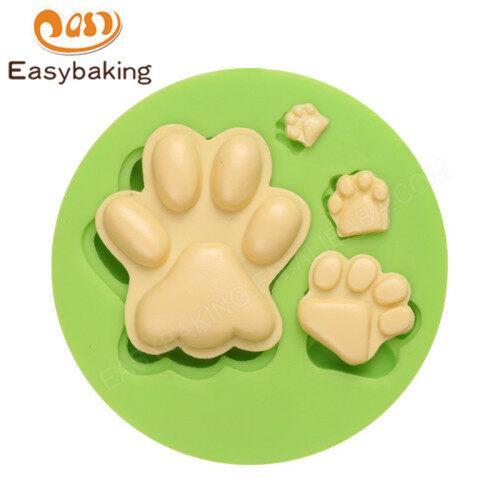 Factory Wholesale Dog Footprints Cupcake Sugarcraft Silicone Mold