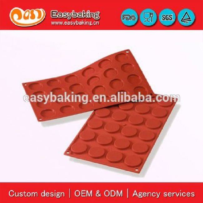 Factory Direct Sell 24 Cavities Mini Florentins Cake Silicone Bakeware