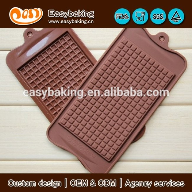 Classical Piece of Wafer Grid Chocolate Cookies Muffin Silicone Mold Baking Tray