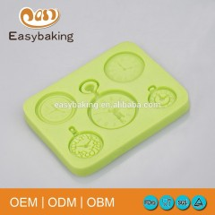 Five Different Design Pocket Watch Chocolate Molds Silicone Cake Decoration Molds