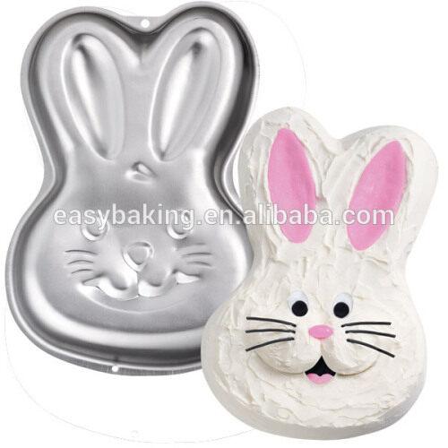 Non-stick cake decorating tools aluminum cutely rabbit cake pan