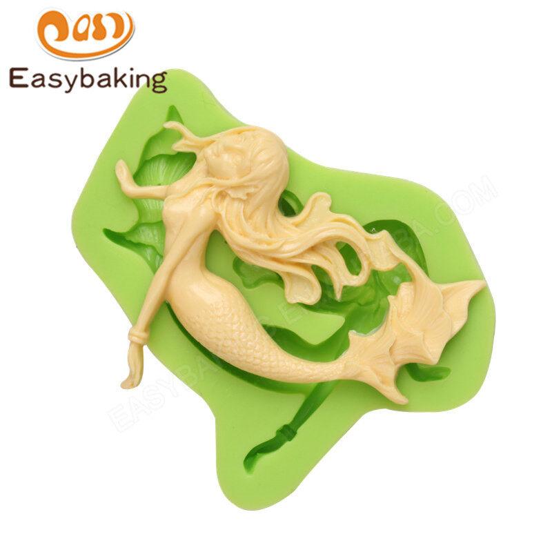 Attractive mermaid silicone fondant mold for cake decoration