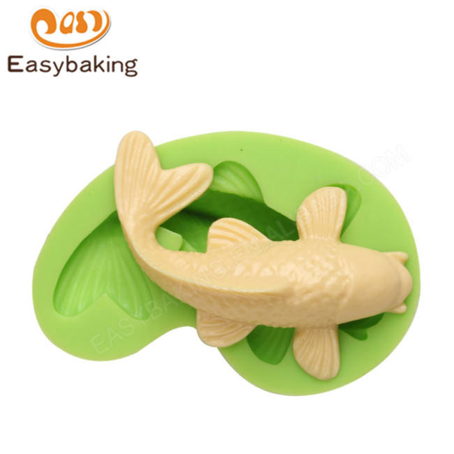 Animal Series Silicone Sugarcraft Koi Fish Mould