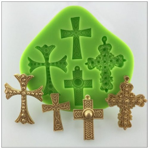 Hot sell Halloween silicone cross fondant cake mold used for decoration