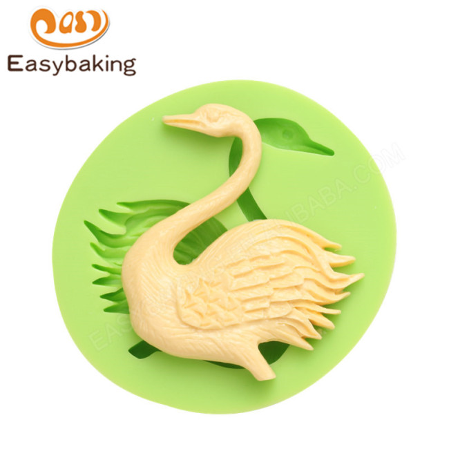 Superior quality swan cookies silicone mold