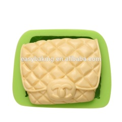 FDA approval luxurious bag shape silicone handmade soap molds