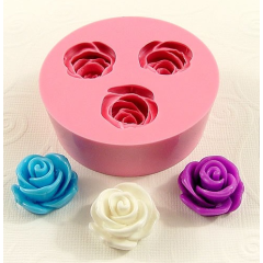 2016 trending products silicone chocolate mould LFGB Rose shape for handmade chocolate