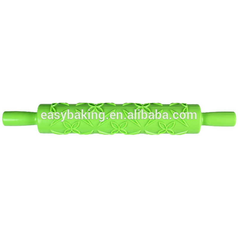 Different shaped imprint bakeware pastry tools plastic embossed rolling pin