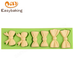 Wholesale mini bowknot silicone sugar mold