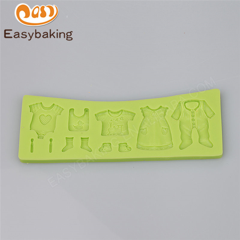 Baby's Clothes Silicone Cake Mold for Baby Shower Cake Decoration