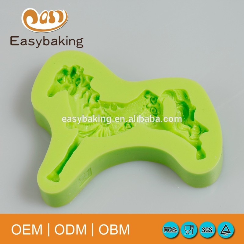 Fondant cake decorating tools silicone horse mold for polymer clay