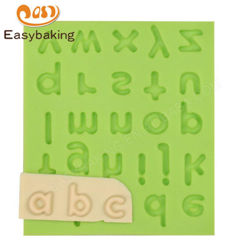 Alphabet Decoration Tools Cake Fondant 3D Silicone Molds