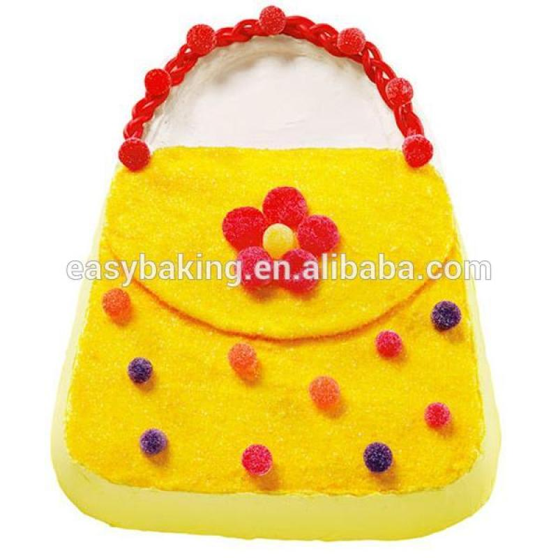 Aluminum 3D cake baking mold lady's handbag purse decorating pan