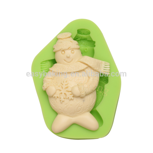 Christmas Snowmen With Scarf Silicone Cake Decoration Mould