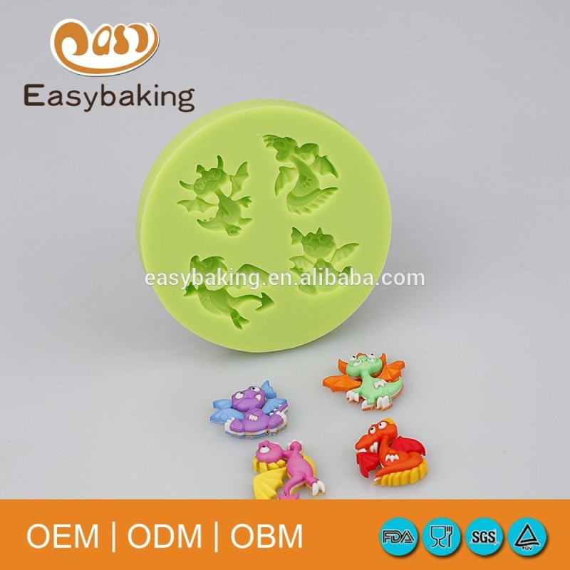 FDA approval dinosaur shaped silicone candy molds