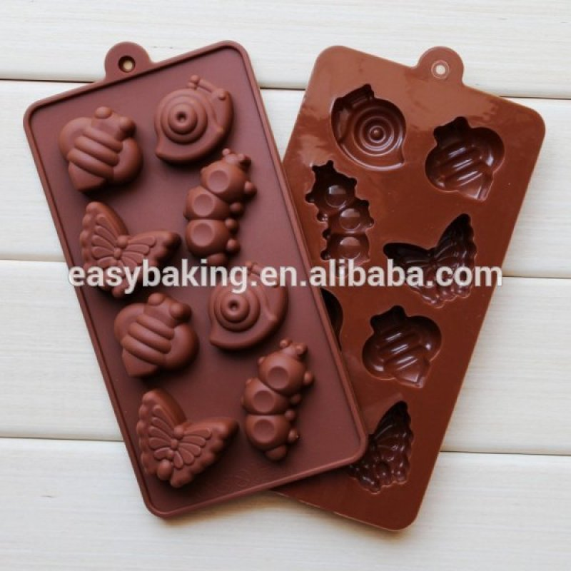Ice Cube Tray Silicone Maker Insects Chocolate Mold
