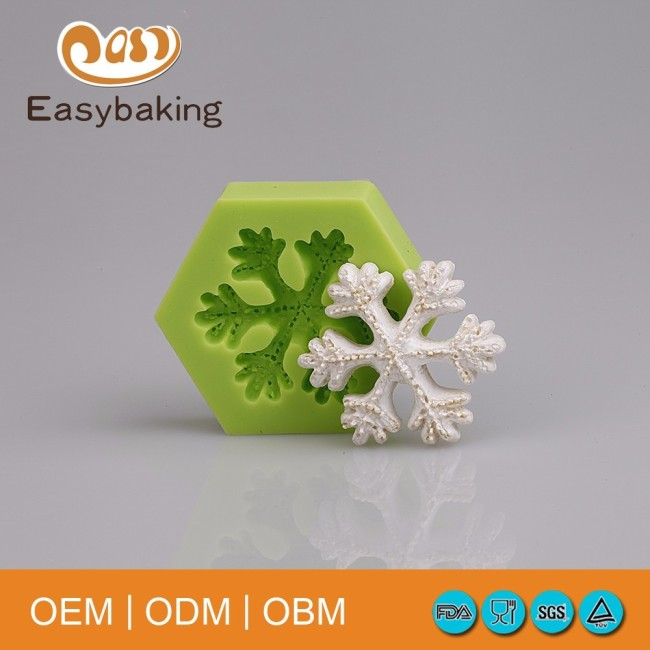 Hexagon Silicone Mold Snowflake Putty For Cake Decorating