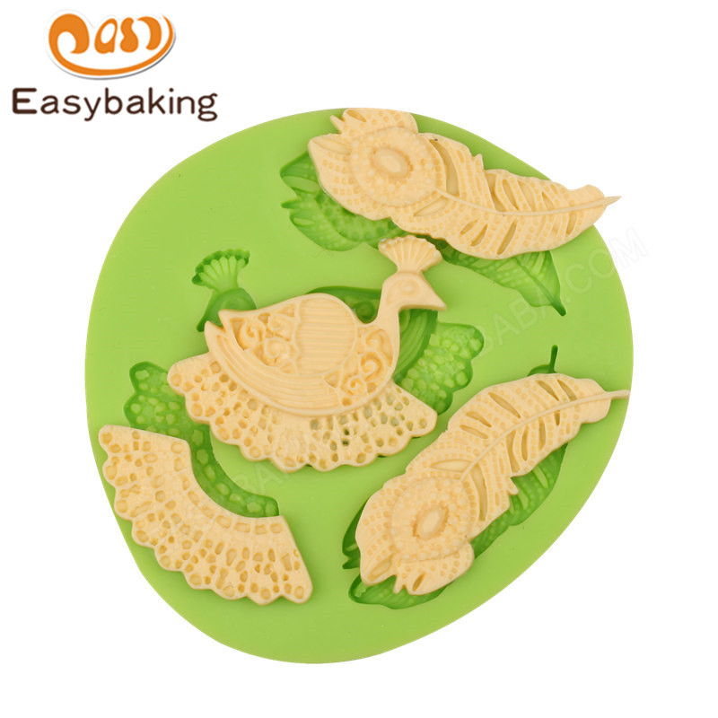 3D silicone fondant molds for cake decorating supplies
