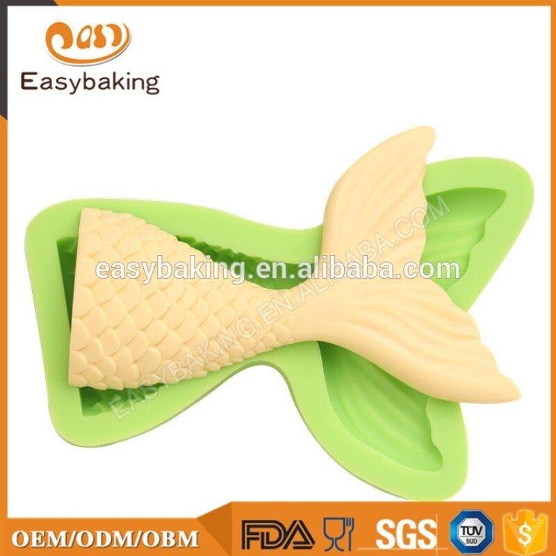 Unique Fish Tail Silicone Cake Mold For Fondant Cake