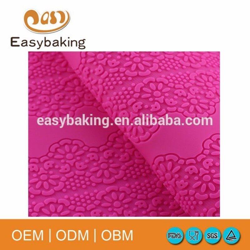 Hot sale silicone lace cake decorating fondant impression mat
