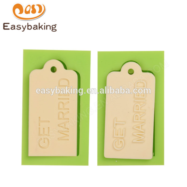 Chinese supplier wholesales new custom get married silicone molds