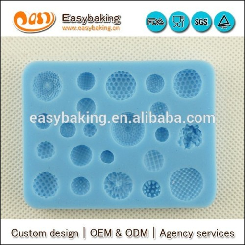 Cake decorating supplies multi button shaped silicone mold for chocolate