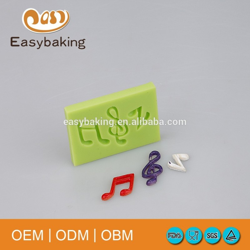 Beautiful DIY Design Musical Note Fondant Silicone Mold For Cake Decorating