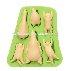 Handmade animal series flexible rubber silicone soap molds