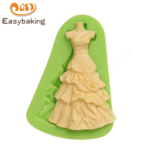 3d  woman skirt  shape silicone fondant mold for cake decoration