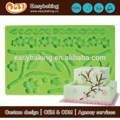 Hard-wearing custom 3D flower Gum Paste and fondant mold for cake decorating