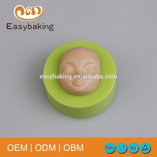 Hand Painted Facial Makeup Artworks Baking Fondant Silicone Chocolate Moulds