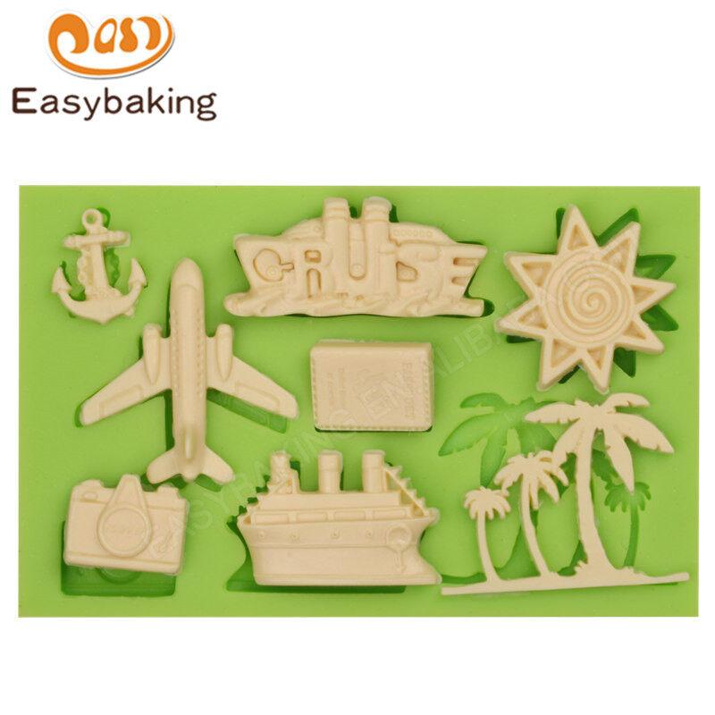Traffic Series 3D liquid Shell Fondant silicone sugar baking mold
