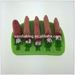 Zhejiang wholesale Halloween Horror finger shape silicone molds soap mold fondant cake decorating