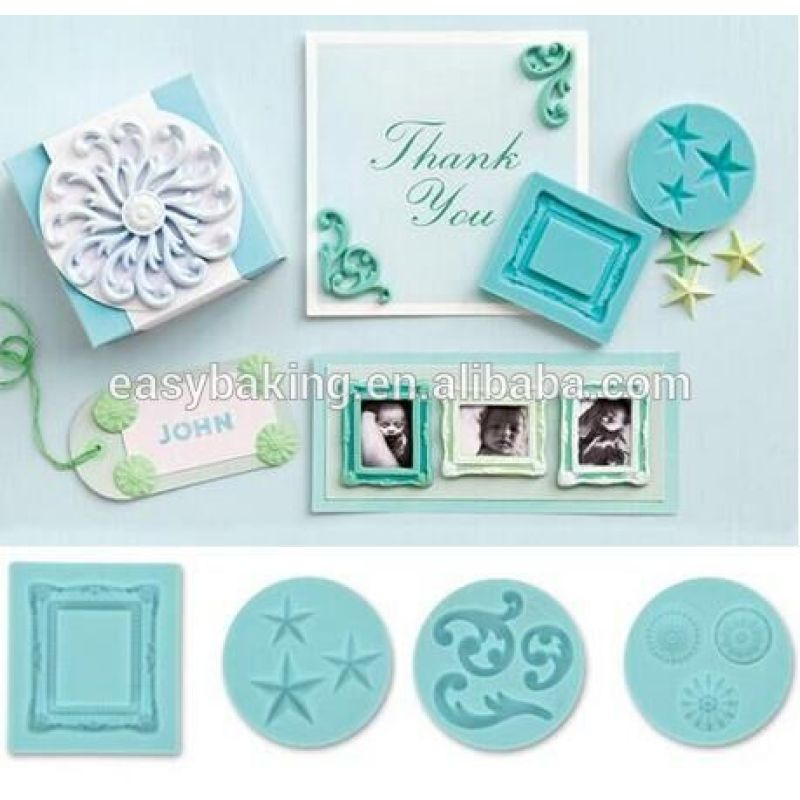 Handmade Europe Photo Frame Clay Silicone Decorating Molds
