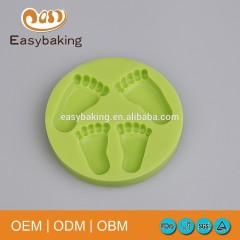 100% Food Grade Baby Foot Sugar craft Silicone Mold Cake Mold Fondant mold For Cake Decorating