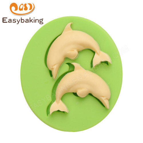 Two lovely dolphins wholesale cake silicone molds