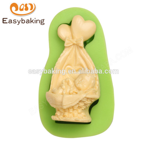 Factory direct sale cheap price high quality sleeping and lovely baby crib silicone mold