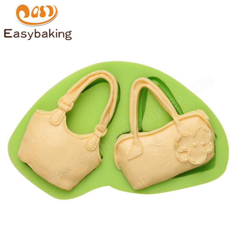 Bag shape Fondant decoration silicone mould for cake decorating