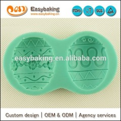 3D easter eggs silicone for gypsum mold