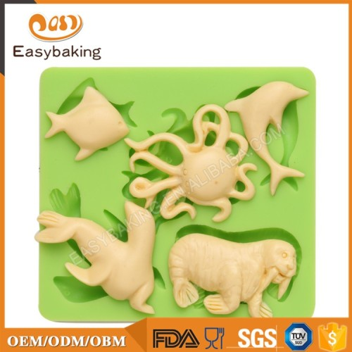 Ocean Animal Series Dophin Octopus Sea Lion Silicone Molds