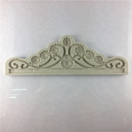 Large Royal Princess Jewellery Crown Silicone Mold for Sugarcraft