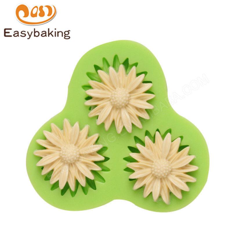Hot product daisy flower silicone fondant decoration mold cake tools