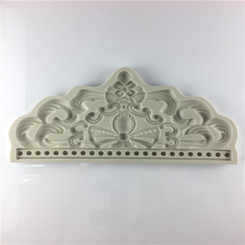New Product Wedding Cake Decoration Big Crown Silicone Mold
