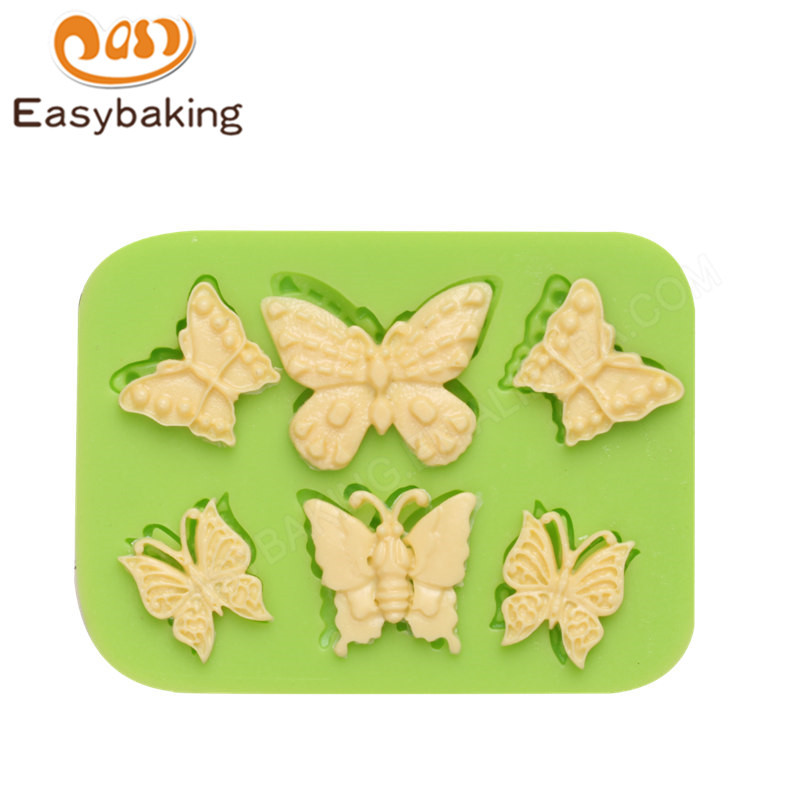 Hot sale  Butterfly cake decoration silicone mould